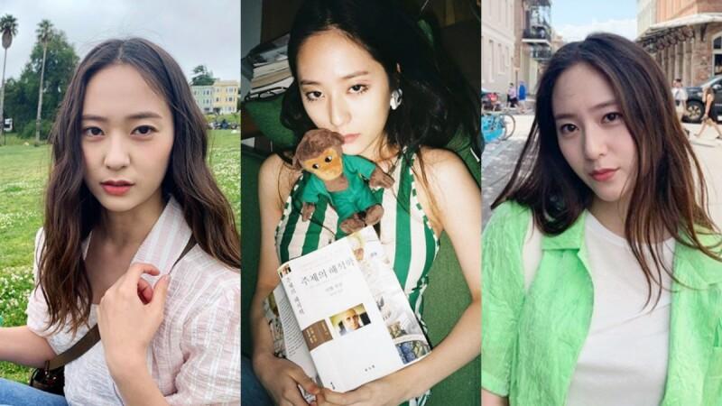 簡潔俐落且不失時髦態度!透過衣櫥中的幾款簡約單品,搭出個性女神Krystal Jung的風格魅力!