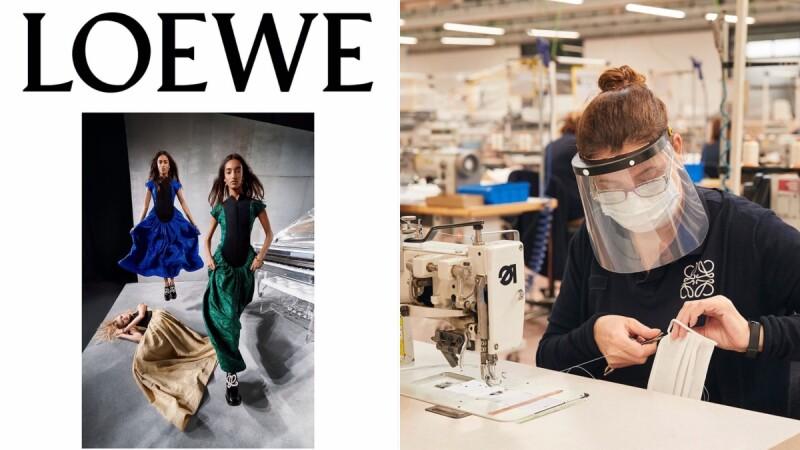 加油!Loewe捐10萬片外科口罩供給西班牙前線醫護,馬德里工坊為自家員工與家人生產布口罩