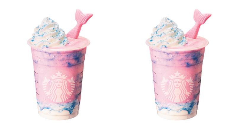 星巴克全新「魔幻美人魚星冰樂」口味太夢幻!繽紛粉紅色裝飾人魚尾巴,根本是公主手中那一杯