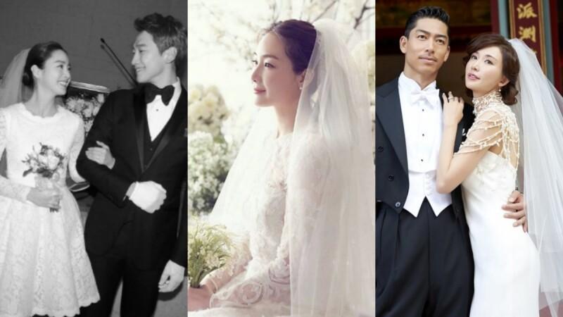 金泰希的俏麗短婚紗、崔智友的典雅白紗...女孩夢想的嫁衣都在這!亞洲名人經典婚紗特輯
