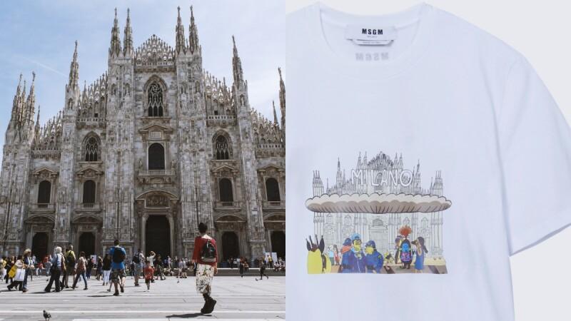 設計師帶你玩!Msgm、Paul Smith推出旅遊景點T-Shirt,米蘭大教堂、布萊頓海灘...私房清單一次告訴你