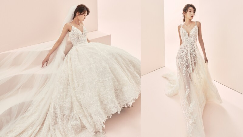 就是鍾愛白色婚紗!Jasmine Galleria全新九款蕾絲刺繡純白嫁紗,實現你的浪漫婚禮夢