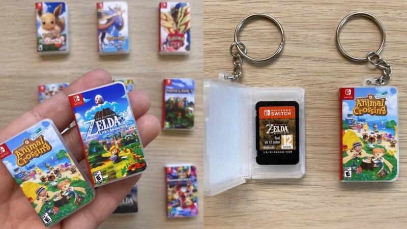 超可愛!國外推「Switch卡帶收納盒」能夠隨身攜帶遊戲片,掛在包包上不怕弄丟超方便