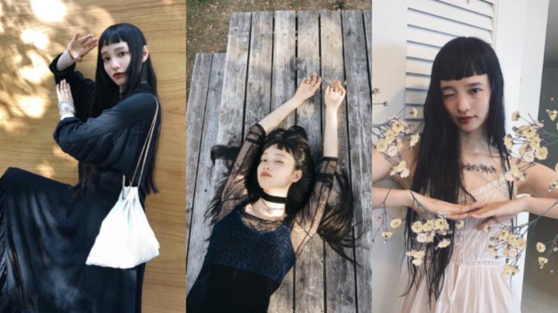 黑色長髮平凡卻又獨特!日本模特「萬波 Yuka 」空靈搞怪又帶點古典美,在社群網美氾濫時代脫穎而出