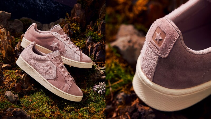 Converse將經典鞋款Pro Leather換上麂皮裸粉色,推出全新Earth Tone Suede系列
