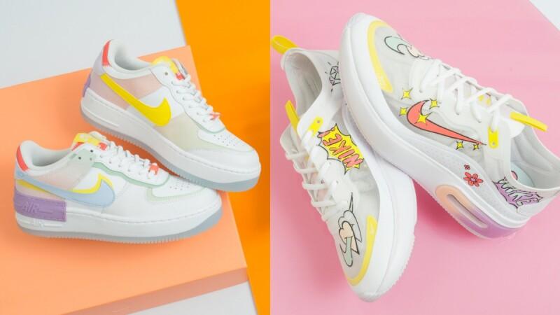 又放火!Fruition本週末開賣Nike插畫風球鞋,莓果紫配仙氣裸膚,連「勾勾」都是手繪發光圖案