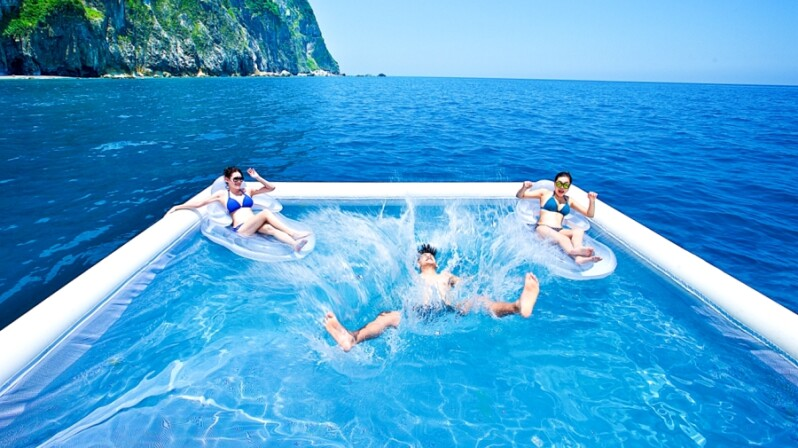 跳入「海上游泳池」仰望清水斷崖!太魯閣晶英酒店推出全新夏季玩法,還能划獨木舟看太平洋日出
