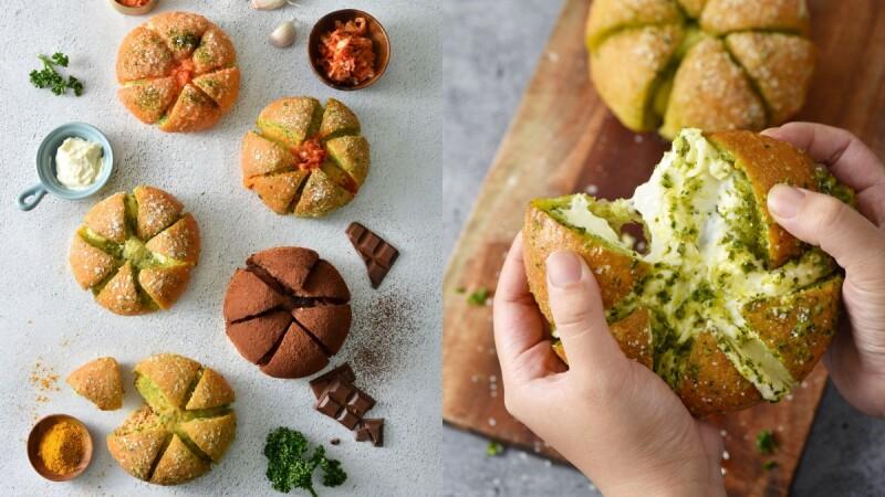 爆漿蒜香超罪惡!布里王子の麵包廚房推「爆漿酸乳酪裝蒜包」5種全新口味,吃得到泡菜、明太子
