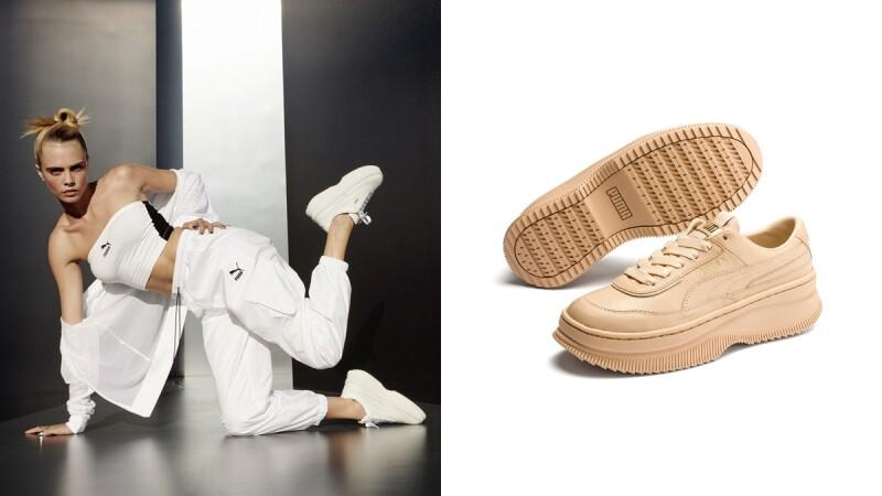 穿上立馬長高5公分!Puma熱賣款鬆糕厚底鞋Deva換上裸白新色,還有最溫柔的奶茶色