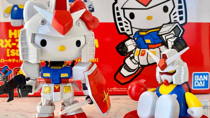 反差萌!Hello Kitty x鋼彈模型聯名打造最萌的模型,凱蒂貓、鋼彈切換自如多種不同玩法超欠收藏