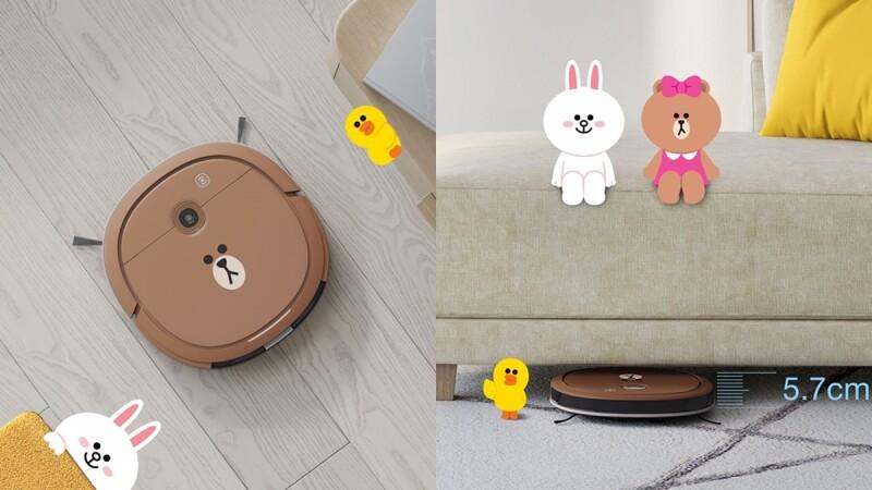 史上最可愛掃地機器人!科沃斯聯名LINE FRIENDS推出「熊大掃拖機器人」,超萌表情、輕薄外型正中少女心,從此愛上打掃