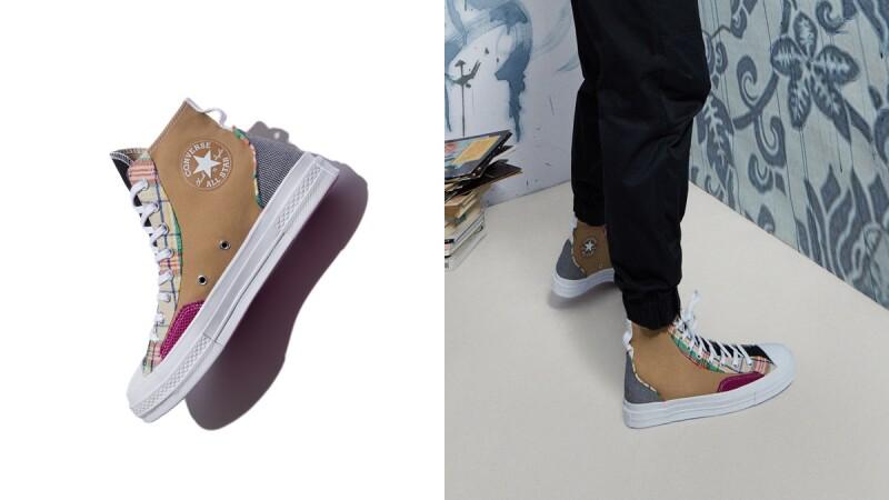 大地色拼接千鳥紋!Converse推出全新Mix & Match系列,這兩雙經典鞋款Chuck 70、Jack Purcell超百搭