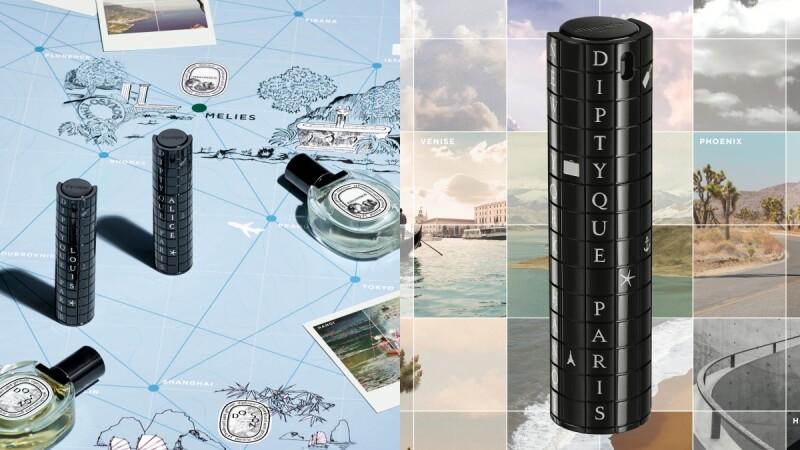 diptyque 推出旅行裝香水瓶,酷黑外殼寫著各國英文,還可以隨意拼字變成客製化小物!