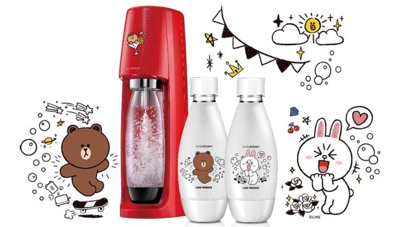 史上最萌限量款!Sodastream與LINE FRIENDS推兔兔熊大氣泡水機,絕美珊瑚橘3款夏季新色登場