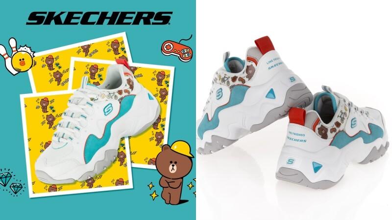 美少女戰士後再聯手Line Friends!Skechers推出熊大、兔兔、莎莉聯名老爹鞋,台灣就能直接購入