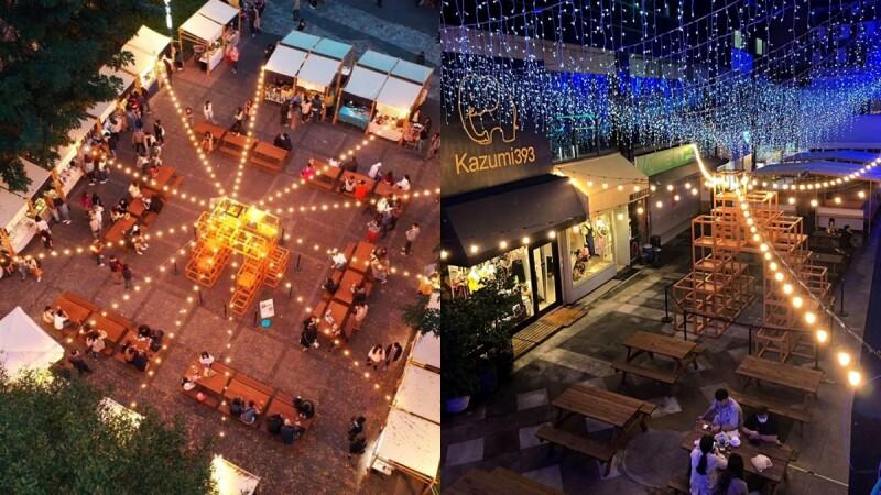 全台最美夜市!台中「富地市場」宣布進駐草悟廣場,日式木作攤位、浪漫燈光點綴,讓你從白天逛到晚上