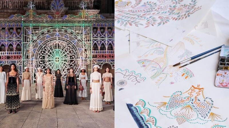 又一齣震撼人心的時尚&藝術演出!Dior 2021早春度假系列,在五彩繽紛的光雕藝術下揭開神秘面紗