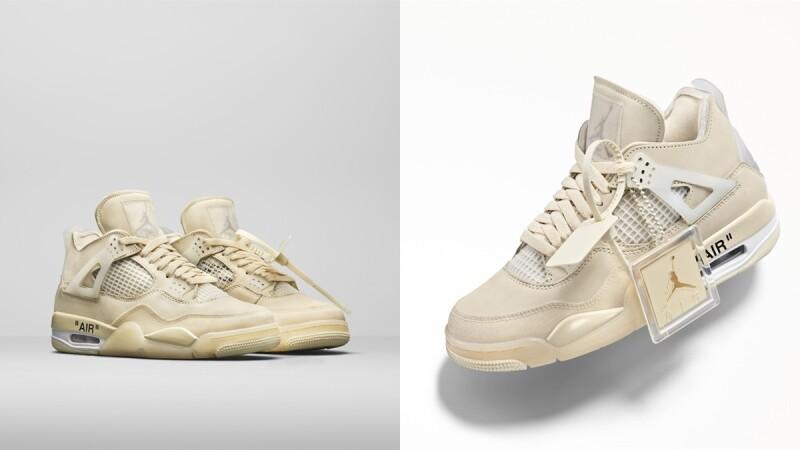 台灣將開賣!Nike聯手Off-White再推Air Jordan 4聯名球鞋,桔梗奶油色、專屬鞋帶標誌…亮點帶你一次看
