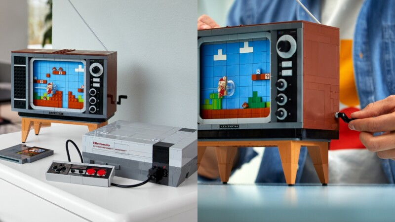 樂高實在太狂!攜手任天堂神還原1980年代復古遊戲機,甚至能「轉動」電視機畫面、讓螢幕動起來