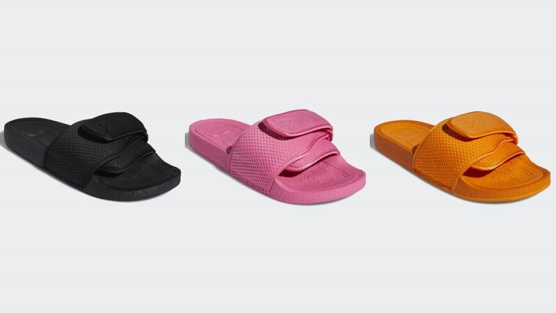 全台這5處可以買到!adidas Originals攜手菲董打造芭比粉、霓虹橘、經典黑潮流拖鞋系列