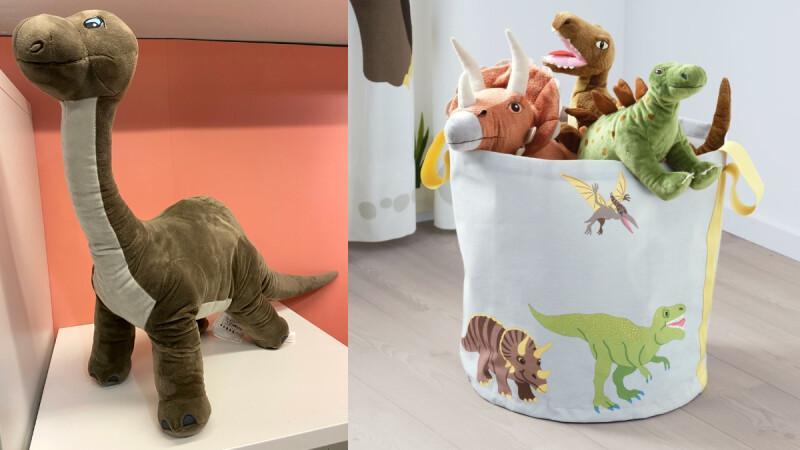 IKEA超人氣鯊魚對手來臨!全新「JÄTTELIK恐龍」系列超萌問世,暴龍、雷龍、劍龍玩偶太欠抱,甚至能變成恐龍蛋