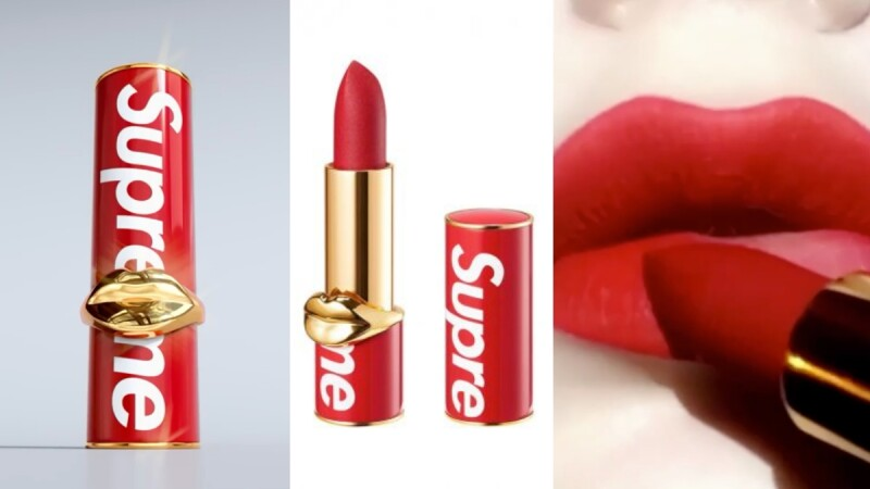 Supreme x Pat McGrath重磅聯名推出Supreme紅唇膏,史上最潮口紅!
