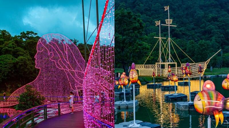 七夕去「2020宜蘭情人節」約會!首度搭起雙鵲橋,配上湖光山色超浪漫,還有夢幻翅膀、七彩城堡甜蜜滿分