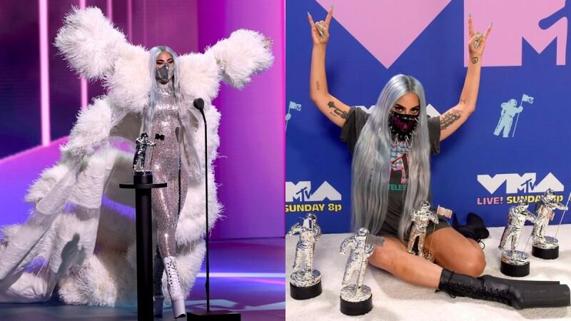原來口罩才是亮點!Lady Gaga稱霸MTV頒獎典禮,盤點科技、氣質、搖滾共9套浮誇系禮服