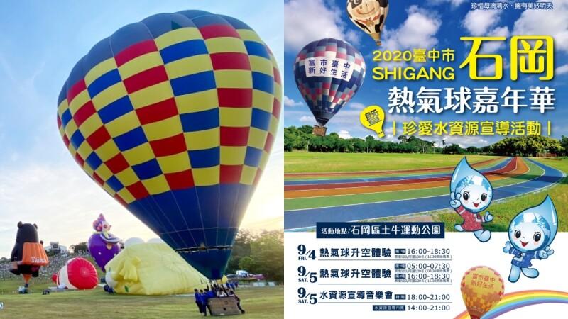 台中也能搭熱氣球!首屆「2020石崗熱氣球嘉年華」週末升空,票價、搭乘時間、交通資訊懶人包