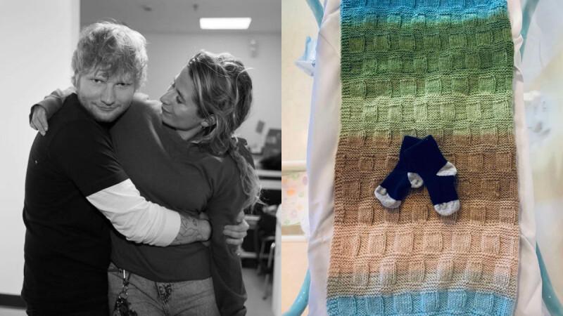 紅髮艾德當爸了!IG宣布女兒平安出生,曬寶寶襪子幸福告白:「我們非常愛她。」