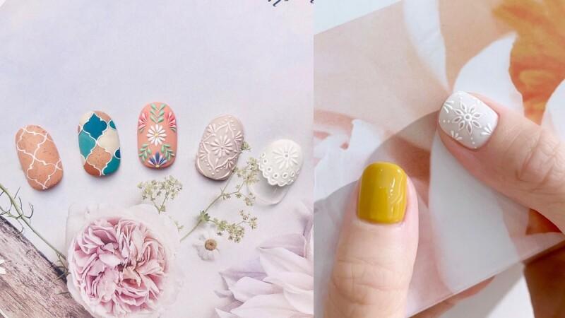 2020最大亮點刺繡雕花美甲,可以清新可以浪漫的12款範本推薦!