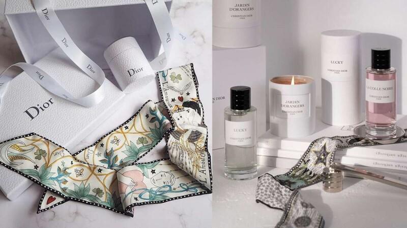 Dior絲巾、唇膏和香水一次買齊,還送迷你唇彩!Dior線上旗艦店根本就是女人夢幻購物天堂~該暗示老公買禮物囉