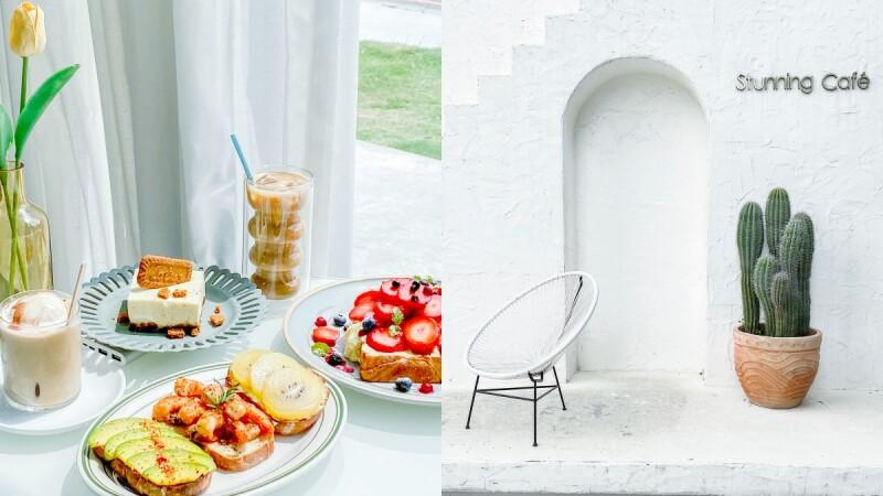 【台中咖啡廳】Stunning Coffee韓系質感咖啡廳,早午餐甜點結合服飾的複合式挑高空間、打卡景點超好拍