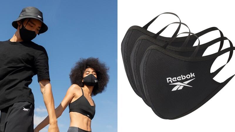 時髦曜石黑再度開賣!Reebok推出親膚、高透氣又能重複清洗的環保口罩,開賣地點、售價公開