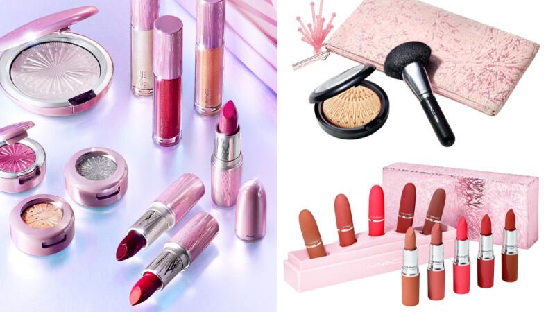 M.A.C 2020聖誕彩妝「冰燦煙花」子彈唇膏、打亮盤都變身超Bling粉色限定包裝!