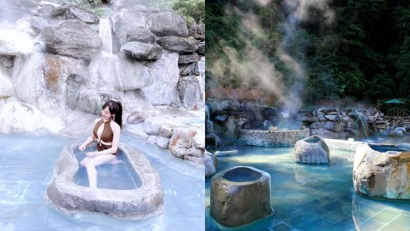 宜蘭鳩之澤溫泉「台版冰島藍湖」重新開放!全台唯一夢幻藍色溫泉,在山林間享受芬多精與美人湯