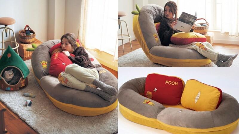 維尼控居家必備!日本推小熊維尼懶人沙發椅,3WAY無論坐著、躺著都有滿滿療癒感