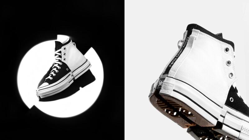 極簡控必收!Converse推出全新黑白拼接Chuck 70帆布鞋,還有米白拼接橘色款