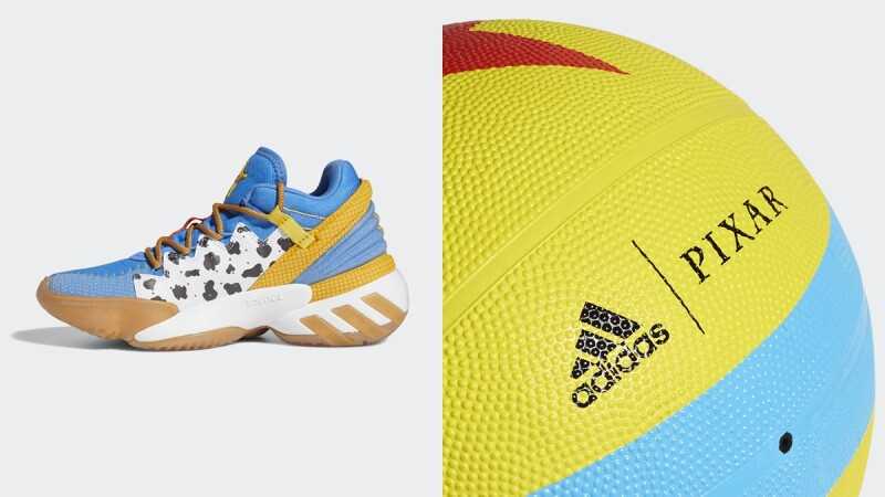 adidas攜手皮克斯動畫打造胡迪警長、巴斯光年聯名鞋款,更推出經典彩球造型籃球
