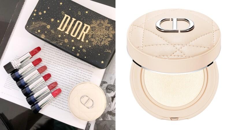 DIOR 2020聖誕彩妝必收奶茶粉色氣墊!還有烙印雪花圖騰的迪奧藍星唇膏珠寶盒,立體嵌印的幸運星太精緻