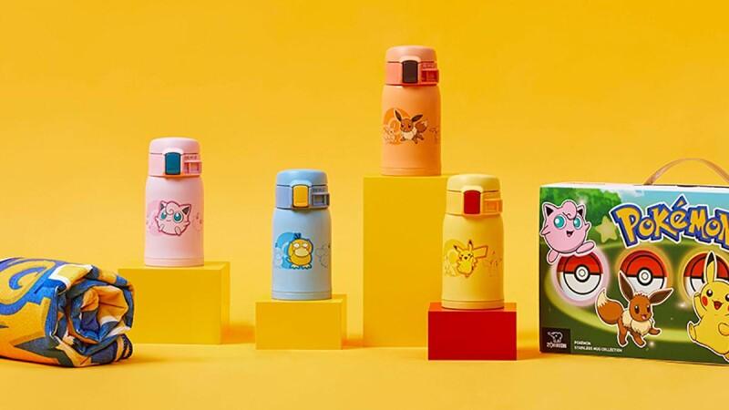 寶可夢迷必收!象印x POKÉMON推台灣限量禮盒,一次擁有皮卡丘、胖丁、伊布、可達鴨保溫杯