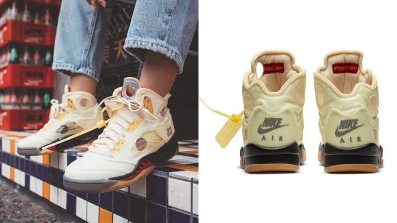 Nike X Off-White再推溫柔奶油黃Air Jordan 5聯名球鞋,童鞋、嬰兒鞋一併上架
