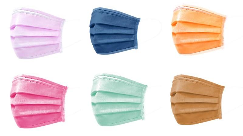 美德醫療推出14款彩色口罩!薄荷綠、甜橙橘、皇室紫、太平洋灰藍通通有,喜歡特殊色口罩必收