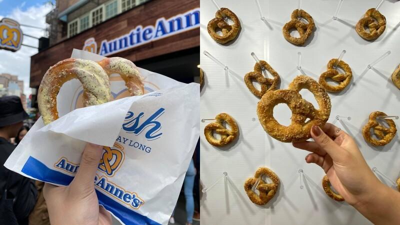 美國Auntie Anne's蝴蝶餅來台灣了!台灣首店進駐信義區,現烤熱騰騰Q軟蝴蝶餅肉桂口味必嚐