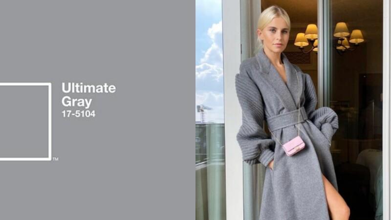 冬日裡的灰色大衣外套這樣穿!3招穿搭技巧掌握Pantone 2021年度色彩「極致灰」
