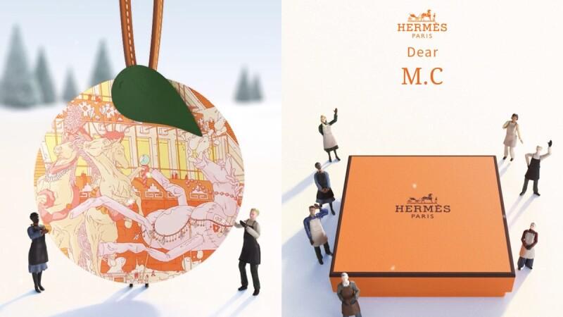 Hermès推出可愛聖誕吊飾小卡!挑選卡片寫下祝福,每個女孩都能免費獲得