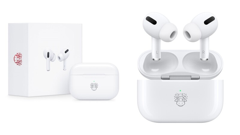 Apple全新推出AirPods Pro牛年限量款!超萌小牛圖案鐫刻,2021新年送禮新選