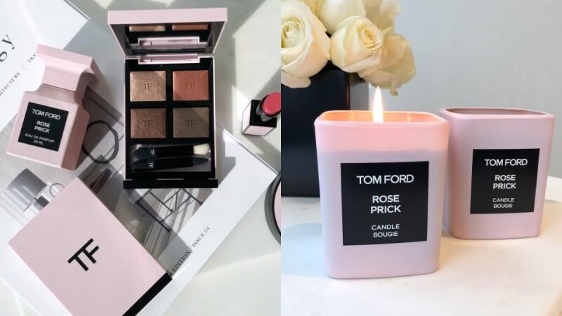 TOM FORD最美玫瑰香水「禁忌玫瑰」推出蠟燭、隨身香氛與彩妝,四格眼影#BODY HEAT保證讓荷包失守