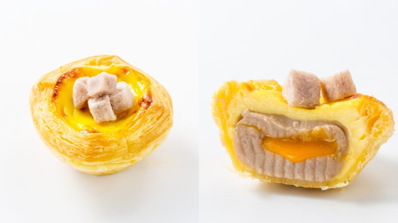 爆漿芋頭蛋塔!DAN DAN台中必吃蛋塔店推「香芋黃金流沙蛋塔」濃郁芋泥、流沙搭配酥香塔皮超罪惡