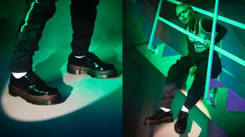 Dr. Martens低筒馬汀鞋推出進化版!時髦黑白色、兩倍厚底設計,嬌小女孩不能錯過